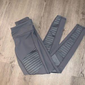 alo yoga XS Moto leggings low rise grey